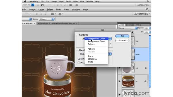 Creating layers: Photoshop CS4 Essential Training