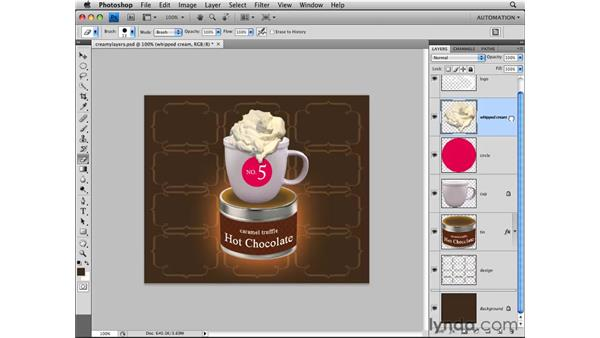 Working in the Layers panel: Photoshop CS4 Essential Training