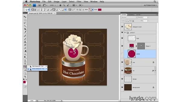 Adding a shape layer: Photoshop CS4 Essential Training
