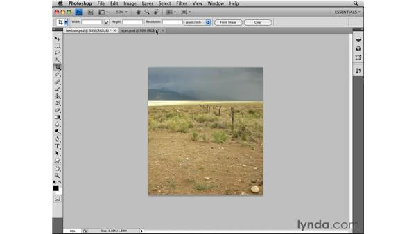 Straightening: Photoshop CS4 Essential Training