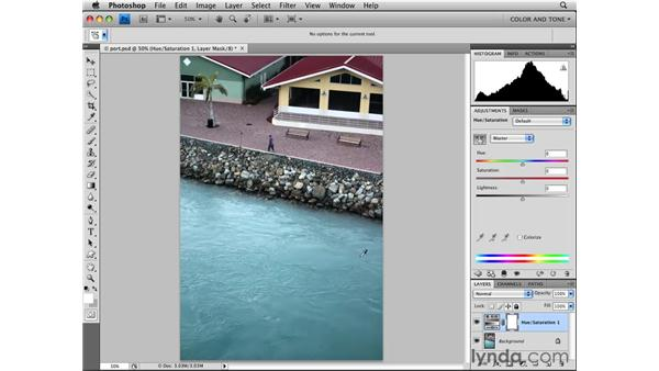Adjusting with Hue/Saturation: Photoshop CS4 Essential Training
