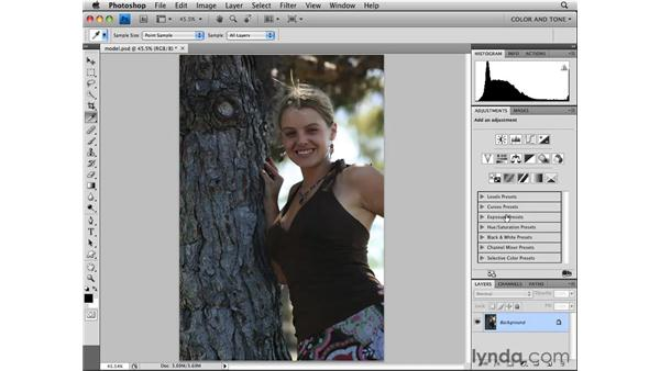 Adjusting with Vibrance: Photoshop CS4 Essential Training