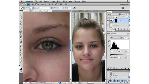 Enhancing eyes: Photoshop CS4 Essential Training
