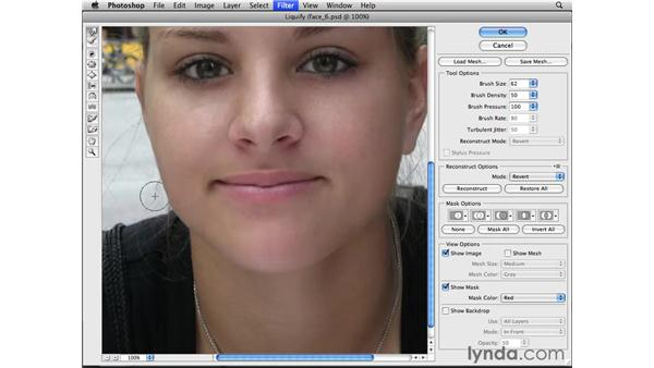 Changing facial structure: Photoshop CS4 Essential Training