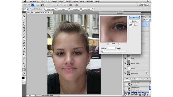 Softening skin: Photoshop CS4 Essential Training