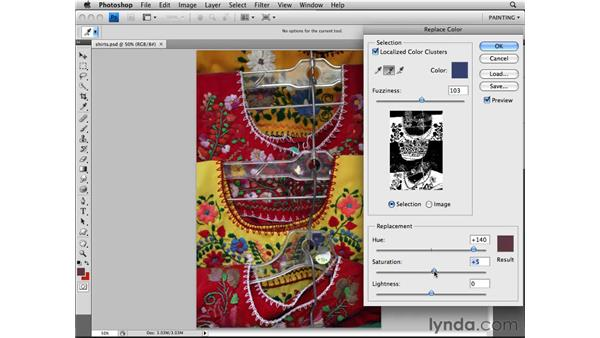 Replacing color: Photoshop CS4 Essential Training