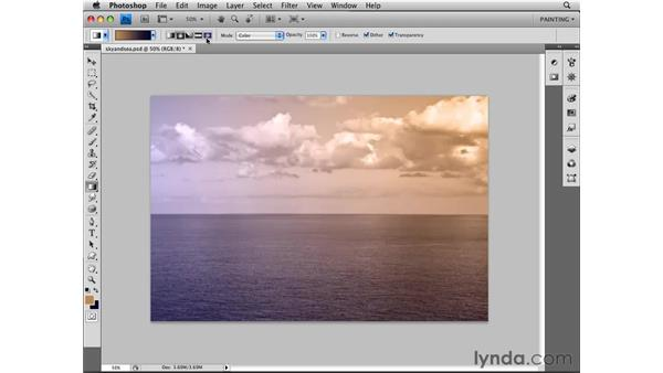 Using gradients: Photoshop CS4 Essential Training