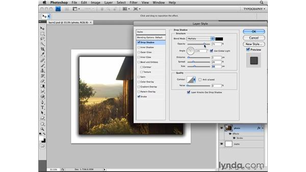 Customizing a layer style: Photoshop CS4 Essential Training