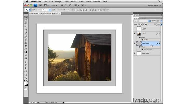 Copying a layer style: Photoshop CS4 Essential Training
