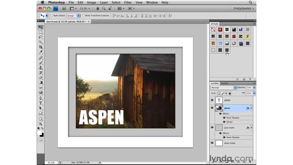 Creating a new style: Photoshop CS4 Essential Training