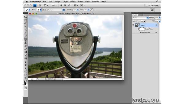 Using Smart Filters: Photoshop CS4 Essential Training