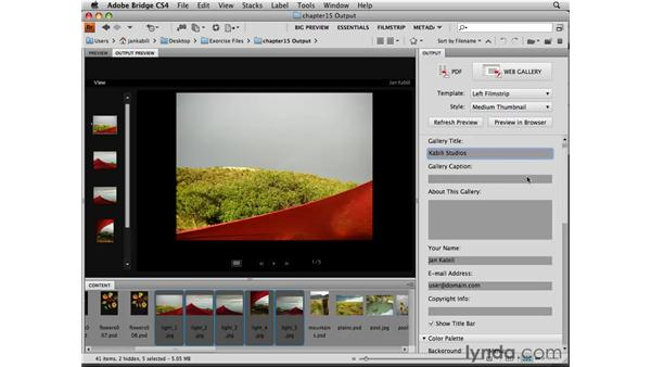 Creating a web gallery from Bridge: Photoshop CS4 Essential Training