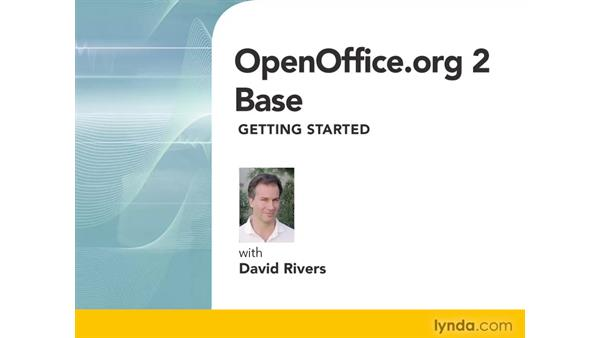 Welcome: OpenOffice.org 2 Base Getting Started