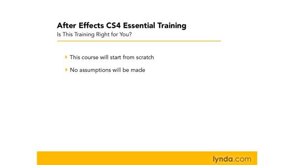 What does this title cover?: After Effects CS4 Essential Training