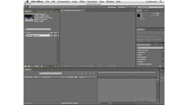 Setting up a project: After Effects CS4 Essential Training