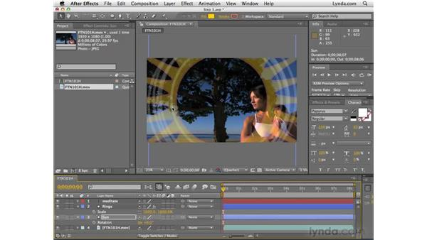 Animating a star: After Effects CS4 Essential Training