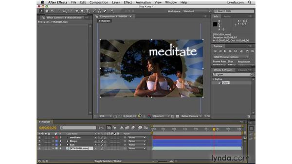 Adding effects: After Effects CS4 Essential Training