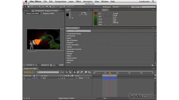 Saving the interface layout: After Effects CS4 Essential Training
