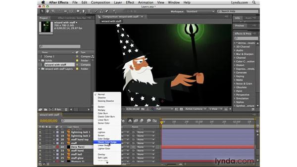 Blending layers together: After Effects CS4 Essential Training
