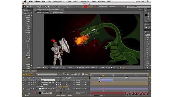 Using layer and comp markers: After Effects CS4 Essential Training