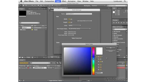 Creating layers from scratch in After Effects: After Effects CS4 Essential Training