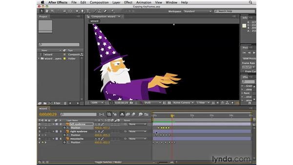 Duplicating motions by copying keyframes: After Effects CS4 Essential Training
