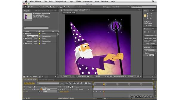 Animating magical attacks with Scale: After Effects CS4 Essential Training