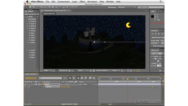 Creating pauses in animation: After Effects CS4 Essential Training