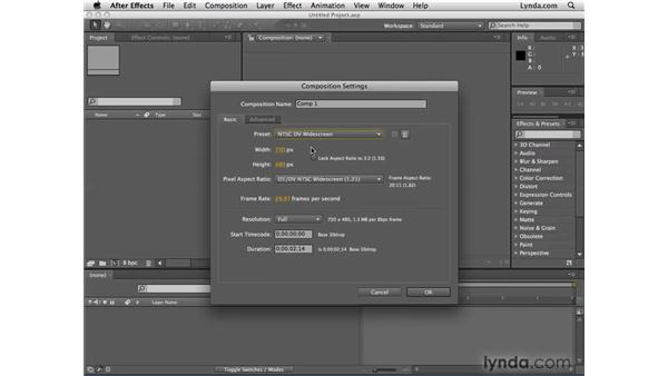 Learning important video concepts: After Effects CS4 Essential Training