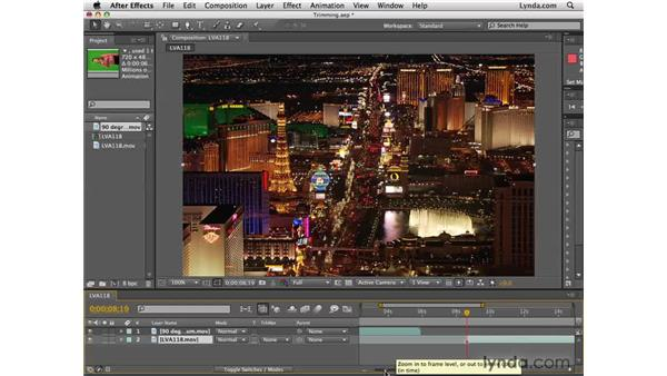 Trimming or editing layers: After Effects CS4 Essential Training