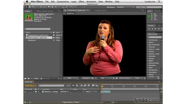 Replacing edited footage: After Effects CS4 Essential Training