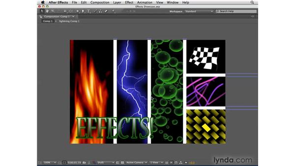 A showcase of effects: After Effects CS4 Essential Training