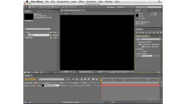 Applying effects: After Effects CS4 Essential Training