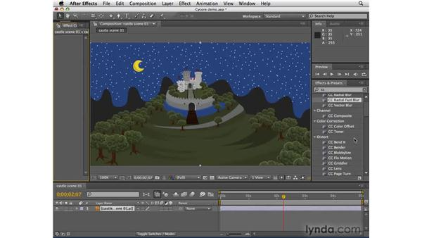 About the included Cycore effects collection: After Effects CS4 Essential Training