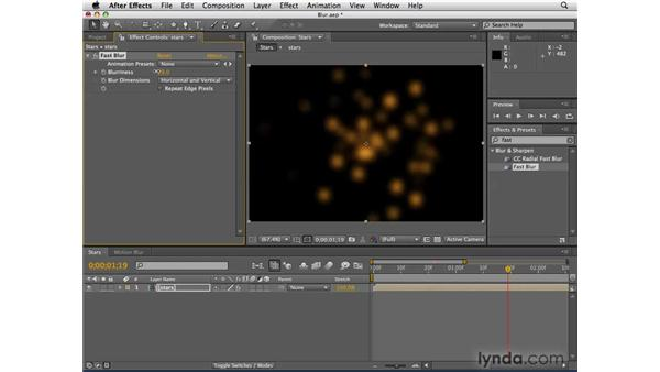 Using blur effects: After Effects CS4 Essential Training