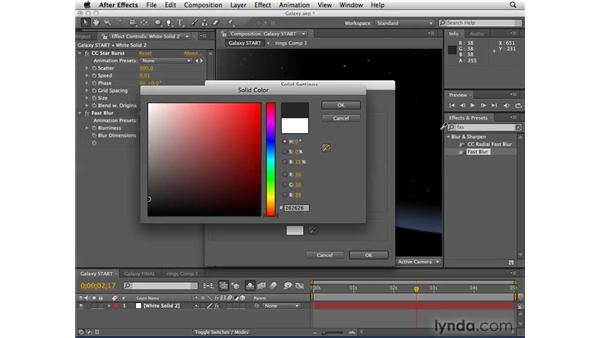 Creating a galaxy scene from scratch: After Effects CS4 Essential Training