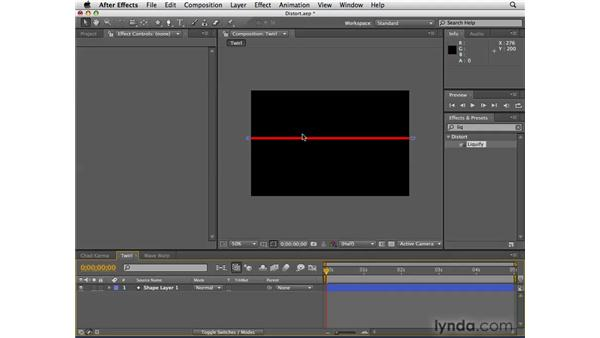 Distorting objects with effects: After Effects CS4 Essential Training