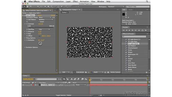 Creating motion graphics elements from scratch: After Effects CS4 Essential Training