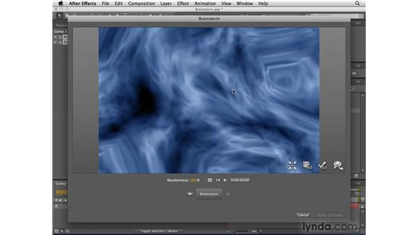 Viewing random variations with Brainstorm: After Effects CS4 Essential Training