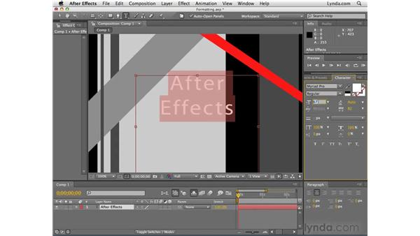 Formatting text: After Effects CS4 Essential Training