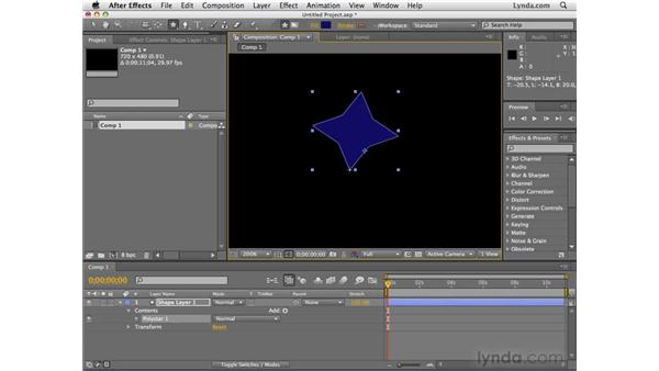 Creating shapes with shape layers: After Effects CS4 Essential Training