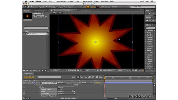 Browsing shape variations with Brainstorm: After Effects CS4 Essential Training
