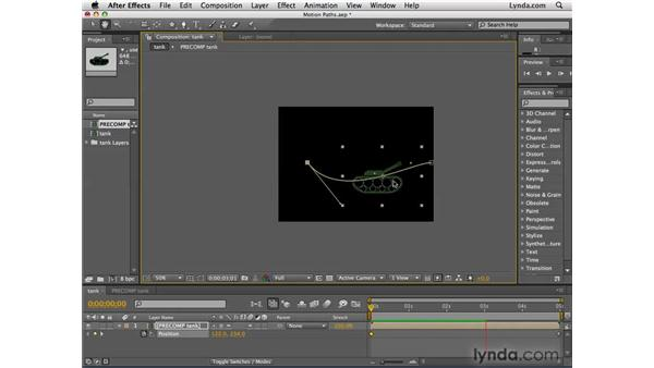 Creating and adjusting motion paths: After Effects CS4 Essential Training