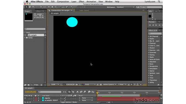 About temporal interpolation: After Effects CS4 Essential Training