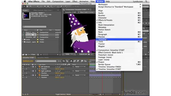 Smoothing motion with the Smoother: After Effects CS4 Essential Training