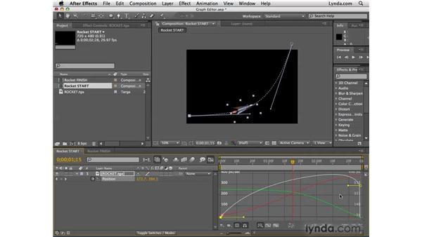 Fine-tuning animation in the Graph Editor: After Effects CS4 Essential Training