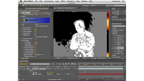 Masking colors with keying: After Effects CS4 Essential Training