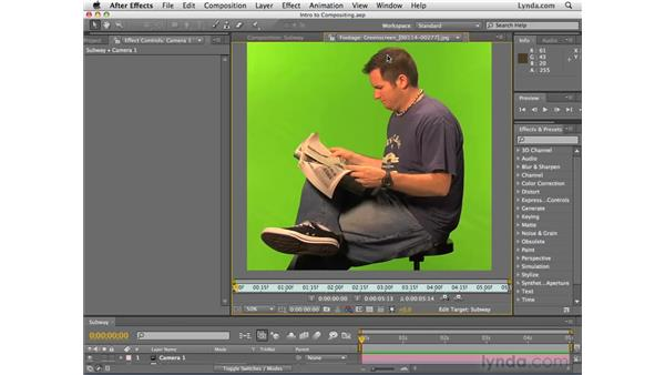 Understanding the basics of compositing: After Effects CS4 Essential Training