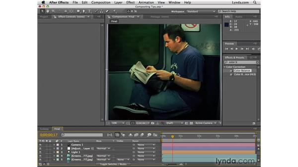 Fine-tuning the composite: After Effects CS4 Essential Training