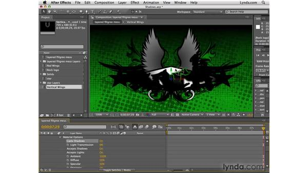 Creating shadows: After Effects CS4 Essential Training